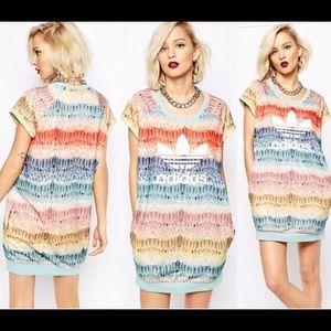 Adidas X Farm Feather T-shirt Dress